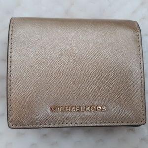 Michael Kors Pale Gold Wallet Like New